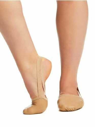 Capezio Leather Pirouette II Turning Shoe Half Shoe Contemporary Lyrical Nude